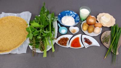 Ingrédients pour la recette : Clafoutis de blettes