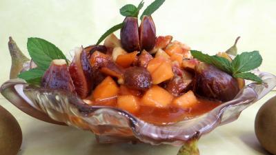 melon : Coupelle de salade de poires