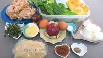 Ingrédients pour la recette : Tarte au confit de canard