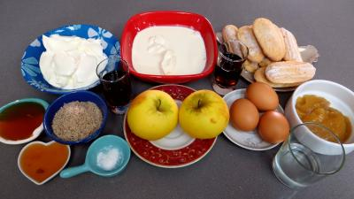 Ingrédients pour la recette : Tiramisu aux pommes