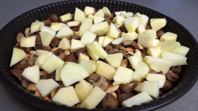 Clafoutis aux pommes et châtaignes - 2.3