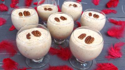 biscuit cuillère : Verres de tiramisu aux kakis et stévia pour diabétiques