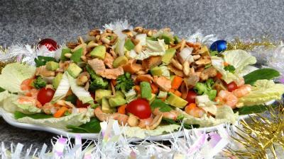 piment doux : Salade au saumon