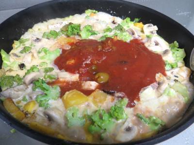 Tarte aux crevettes et chou romanesco - 4.1