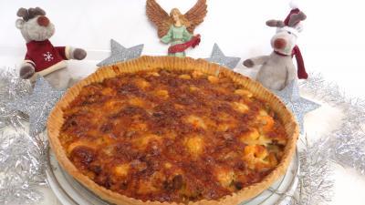 Butternut : Tarte aux crevettes et chou romanesco