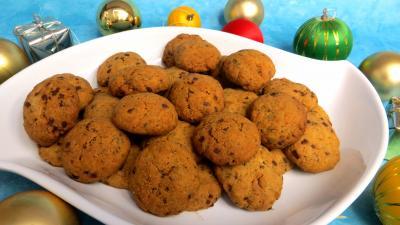 chocolat : Plat de sablés à stévia pour diabétiques
