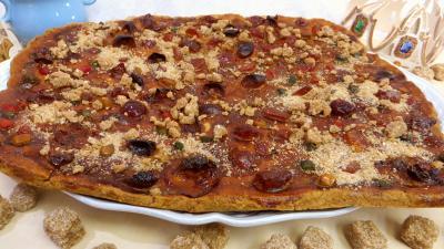 Desserts : Galette aux fruits confits