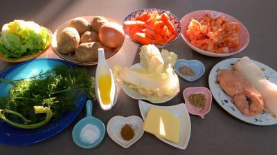 Ingrédients pour la recette : Soupe de crevettes