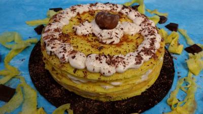 Recette Gâteau de crêpes à la crème de marron