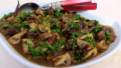 Recette Coeurs de canard sauce au Cabernet d'Anjou