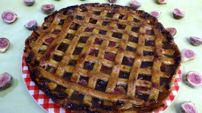 Pour débutants : Assiette de tarte à la confiture de figues