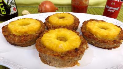 galette : Galettes de boeuf à l'ananas