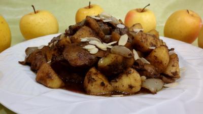 Foies de volaille aux pommes
