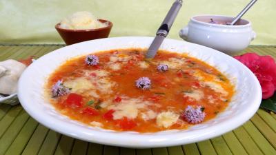 Recettes sans oeufs : Potage à la tomate
