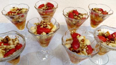 Recettes sans oeufs : Salade de fruits champenoise
