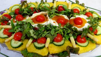 Image : Salade de chèvre au caramel