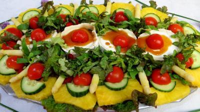 salades composées : Salade de chèvre au caramel