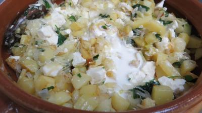 Gâteau de poireaux et pommes de terre - 4.4