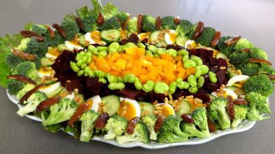 oseille : Salade de brocolis et fèves