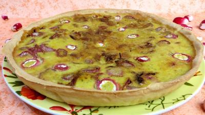 tarte : Tarte aux fromages frais et radis