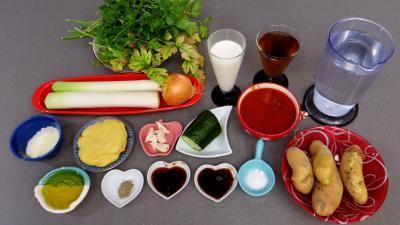 Ingrédients pour la recette : Crème de persil