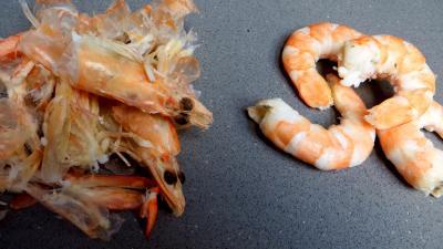 Croustillants de pommes de terre à l'oseille et crevettes - 2.2