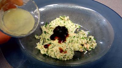 Croustillants de pommes de terre à l'oseille et crevettes - 7.2