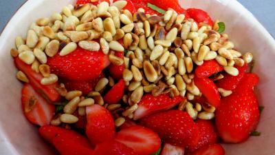 Aumônières de crêpes aux fraises - 3.4