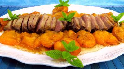 Recette Magret de canard aux abricots frais