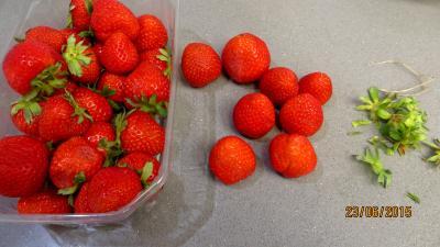 Tarte aux fraises et streusel - 1.1
