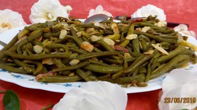 Recette Haricots verts aux amandes