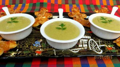 crème aux légumes : Crème vanillée de haricots verts