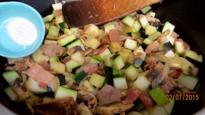 Jambon et foie de veau aux champignons - 6.1