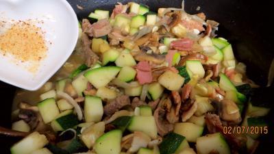 Jambon et foie de veau aux champignons - 6.3