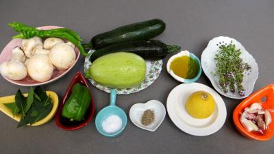 Ingrédients pour la recette : Brochettes de légumes à la plancha