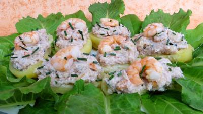 Barquettes aux crevettes - 7.2