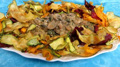 Chips aux courgettes, carottes et betterave rouge - 6.3