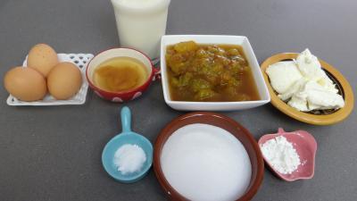 Ingrédients pour la recette : Crème glacée aux reines-claude et mascarpone