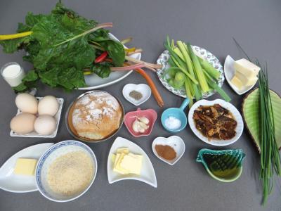 Ingrédients pour la recette : Bettes ou blettes façon Suisse