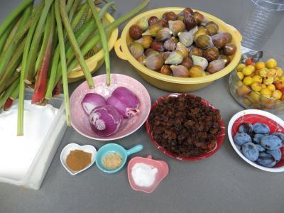 Ingrédients pour la recette : Chutney de figues à la cannelle