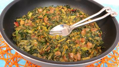 Recette Bettes aux anchois et rognons