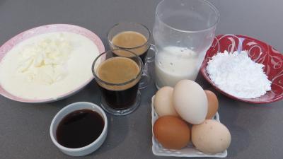 Ingrédients pour la recette : Flans au café