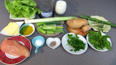 Ingrédients pour la recette : Velouté de batavia
