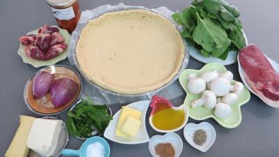 Ingrédients pour la recette : Pizza au magret et coeurs de canard
