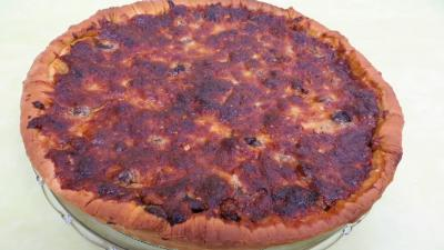 Image : Pizza au magret et coeurs de canard
