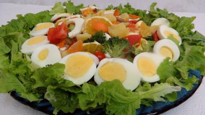 Cuisine diététique : Plat de salade batavia