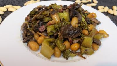 plat sucré salé : Assiette de brocolis façon amandine