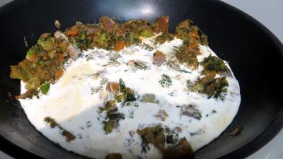 Restes de légumes de bouillon à la crème - 1.3