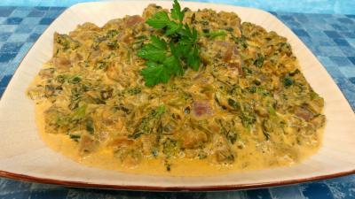 Légumes : Assiette de légumes de bouillon à la crème