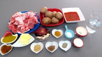 Ingrédients pour la recette : Agneau du curry